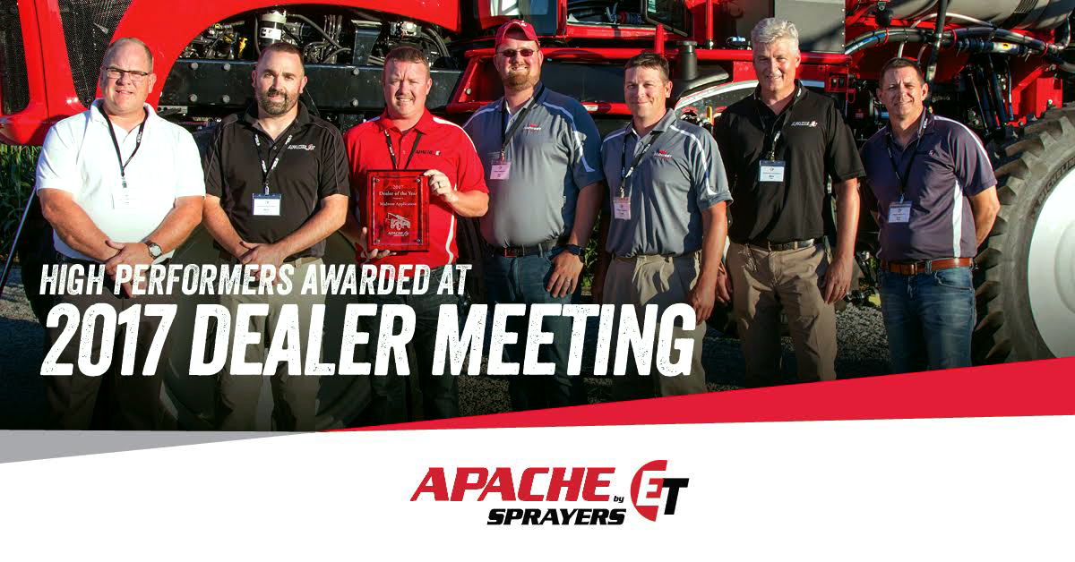 Apache Sprayers Dealer Meeting Awards 2017