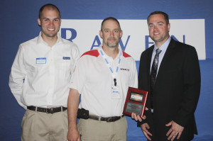Equipment Technologies receiving award at Raven Innovation Summit