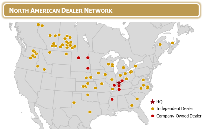 Apache Sprayers North American Dealer Map