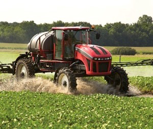 Apache Sprayer in Wet Field
