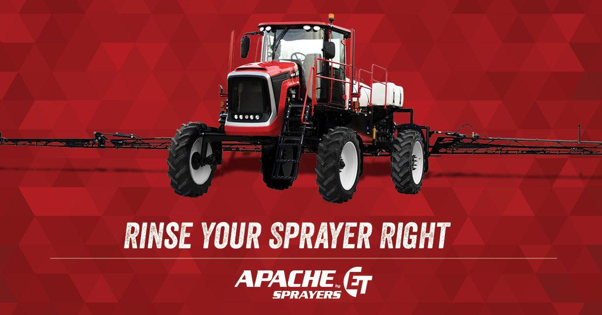 How To Rinse Your Sprayer Right   Apache Sprayers - Self
