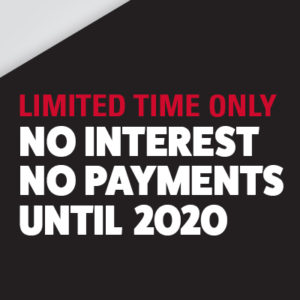 Limited time only no interest no payments until 2020